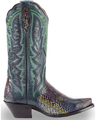 Dan Post Femmes Peint Ventre Python Triade Cowgirl Boot Snip Toe - Dps391 Multi