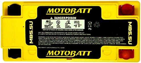 MotoBatt MB5.5U 12V 7 Amp 105CCA Factory Activated QuadFlex AGM Battery