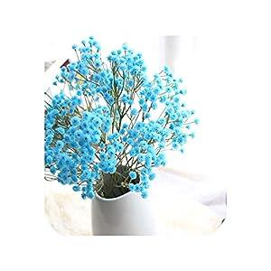 Artificial Silk Fake Flowers Baby's Breath Floral Wedding Bouquet Party Decors plantas artificiales para decoracion 78