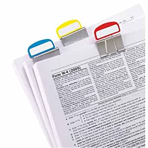 "PileSmart Binder Label Clip, 1/2"" Clip, Fashion Colors (ESS51053) Category: File Organizers"