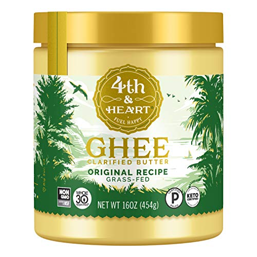 Original Grass-Fed Ghee by 4th & Heart, 16 Ounce, Keto, Pasture Raised, Non-GMO, Lactose Free, Certified Paleo 1