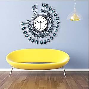 Reloj de pared set calcoman a para pared relojes - Relojes decorativos para salon ...