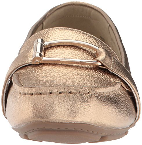 Anne Klein Women's Petra Leather Loafer Flat Gold Leather 9SpUzfq