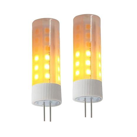 G4 bombillas LED, LED efecto llama fuego luz bombillas para Iluminación de decoración de Navidad