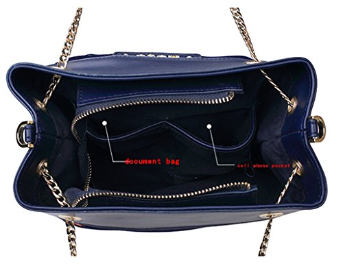 ZCJB Totes Messenger Bag Stickerei Portable Umhängetaschen Mode Persönlichkeit Eimer Tasche Top-Griff Taschen
