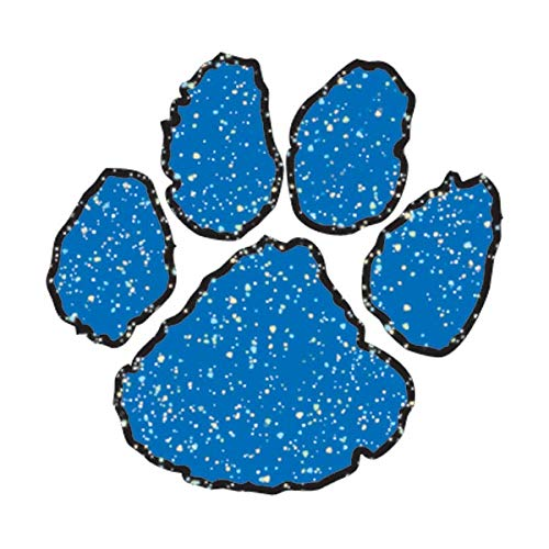 Blue Glitter Paw Temporary Tattoos, 100 Pack Spirit Stickers by TCDesignerProducts