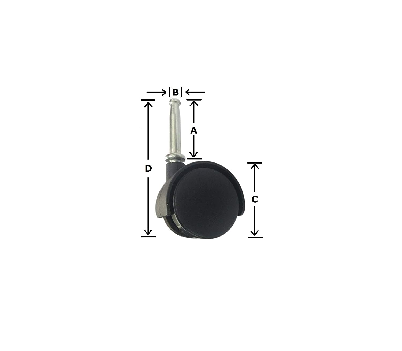 NUWEISHI (4 Caster Wheels for Ridgid Wet Dry Shop Vac - New