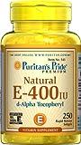 Puritan's Pride Vitamin E-400 iu 100% Natural-250 Softgels