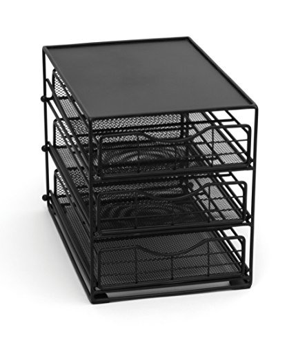 Lipper International 8670 In-Cabinet Coffee Pod Drawer, 3-Tier, 45-Pod Capacity, Black by Lipper International (Image #7)