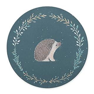 TuMeimei Non-Slip Rubber Round Mouse Pad (Cute Little Hedgehog)