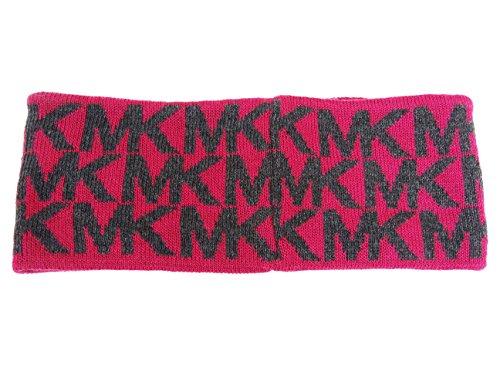 Michael Kors Women's Winter Knit Headband (FUSHIA/DARK GREY)