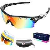 AFARER Polarized Sports Sunglasses Youth Adult UV400 Protection Running Fishing Biking Motorcycle