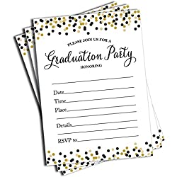 50 Graduation Invitations and Envelopes (Large Size 5x7)