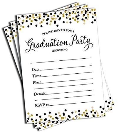 Amazoncom 50 Graduation Invitations and Envelopes Large Size 5x7