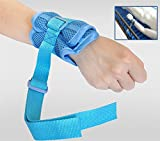 LUCKYYAN Medical Breathable Mesh Cloth Adjustable Limb Holders,Wrist Upper Limb Restraint Band with Tied Rope LHYS-02 1 Pair Pack
