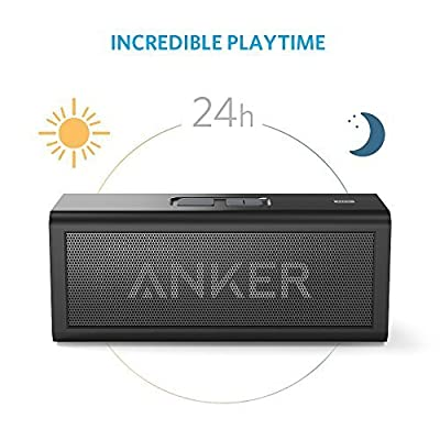 Anker Wireless Bluetooth Speaker, Portable Wireless Bluetooth Speaker (A7909) with Breakthrough 24-Hour Battery, 10W Portable Wireless Speaker with Dedicated Bass Port (Black)
