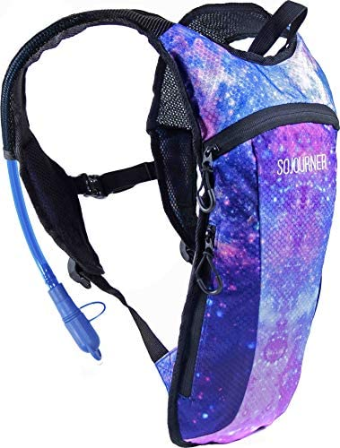 Sojourner Rave Hydration Pack Backpack – 2L Water Bladder Included for Festivals, Raves, Hiking, Biking, Climbing, Running and More 2 Pocket