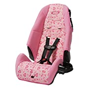 Cosco – Highback 2-in-1 Booster Car Seat – 5-Point Harness or Belt-positioning – Machine Washable Fabric , Amber