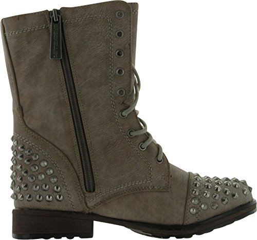 Breckelle's Georgia 28 Women's Combat Boots Military Studs Studded