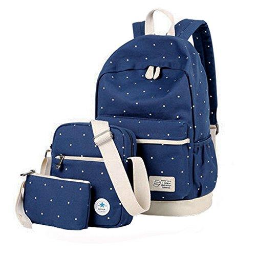 Schüler-Schulter-BeutelReise-Schule-Rucksack/Mode Schulterbeutel,Marineblau