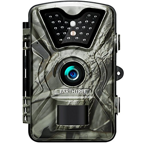 Earthtree Trail Game Camera FHD 1080P Deer Hunting Camera with 940nm IR LEDs,0.5s Trigger Speed,Up to 65ft Trigger Distance,2.4 inch LCD Screen,IP66 Water Resistance for Game & Home Security by Earthtree