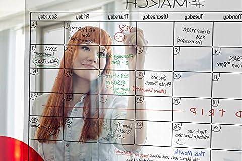 TRANSPARENT Dry Erase Wall Calendar 34