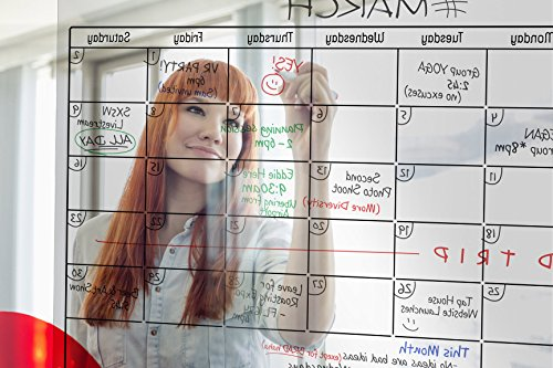 TRANSPARENT Dry Erase Wall Calendar 34