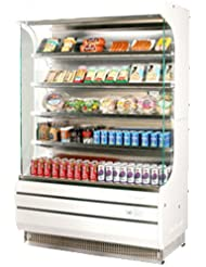 Turbo Air TOM40 39 Full Size Display Merchandiser with Efficient Refrigeration System Anti-Rust Coating Attractive Glass Sides Back-Guard and Fluorescent Lighting: