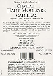 2010 Chateau Haut Mouleyre Cadillac 500 mL Wine