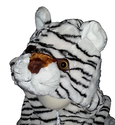Vest Animal Hoodie Kids Costume White Siberian Tiger Small