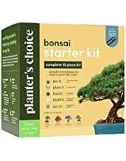 Planters' Choice Bonsai Starter Kit - The Complete Kit to Easily Grow 4 Bonsai Trees from Seed with Comprehensive Guide & Bamboo Plant Markers - Unique Gift Idea (Bonsai)