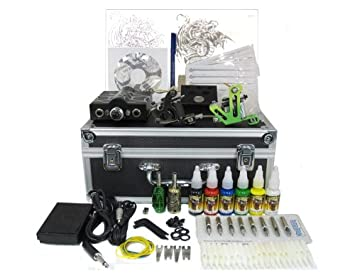 Tattoo Starter Kit #1 -Tattoo Supply, Machine, Needles, Ink, Grips, Tips,  Case-