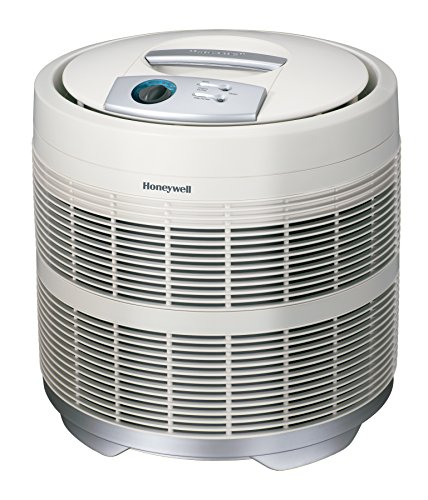 (Honeywell 50250-S True HEPA Air Purifier, 390 sq. ft, White)