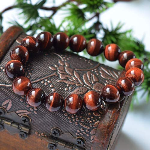 Handmade Natural Red Tiger's Eye Passion Bracelet - Boost Confidence - Bring Motivation - Strong Relationship - Root Chakra Bracelet - Tiger Eye Bracelet for Healing Lower Chakra