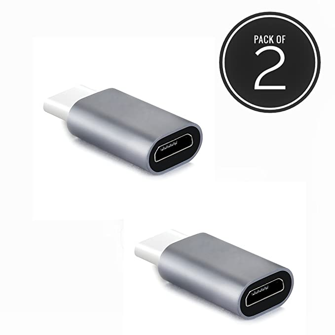 Anonymous Micro USB to Type C OTG Adapter Pack Of 2 Color May Vary Mobiles   Accessories