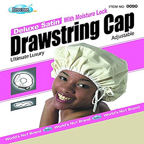 - Deluxe Satin Drawstring Cap