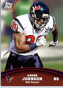 2011 Topps Rising Rookies Football Card # 9 Andre Johnson - Houston Texans - NFL Trading Card Protective Screwdown Display Case
