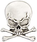 Hot Leathers Skull and Crossbones Pin by Hot Leathers