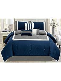 Modern Queen Size 7 Piece Bedding ...