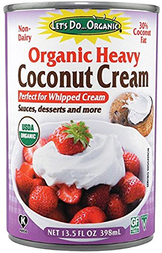 Lets Do Organic Heavy Coconut Cream, 13.5 Ounce (Pack of 2)