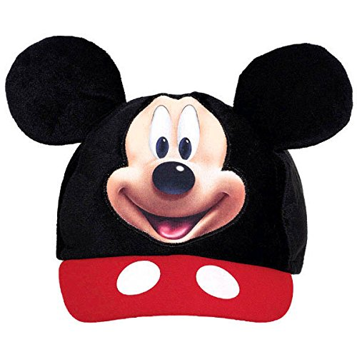 Black And White Two-face Costume (Amscan DisneyMickey Mouse Birthday Party Mickey's Ear Baseball Hat Accessory, 5 5/8' X 3 1/2