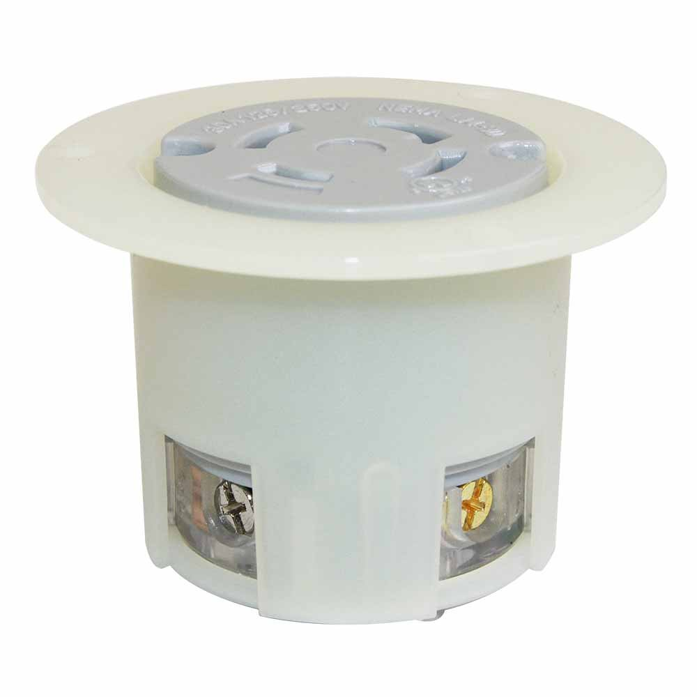 Superior Electric YGF043F Twist Lock Receptacle Flange 3-Pole 4-Wire 30A 125/250V NEMA L14-30R
