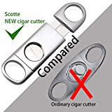 Scotte Cigar Cutter Stainless Steel Removable Cigar