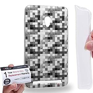 Case88 [Asus Zenfone 6] Gel TPU Carcasa/Funda & Tarjeta de garantía - Art Design Black And White Puzzle Geometric Art1567