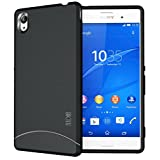 TUDIA Ultra Slim Full Matte ARCH TPU Bumper Protective Case for Sony Xperia M4 Aqua (Black)