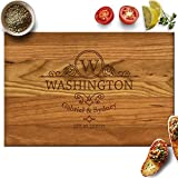 Our Personalized Cutting Boards are finely crafted and custom engraved with our state of art laser machine. Each wood board is made for special cut wood, sanded, and finished with food safe cutting board oil for excellent protection. The boar...