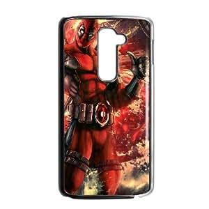 Deadpool LG G2 Cell Phone Case Black custom made pgy007-9014018