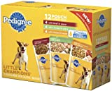 Pedigree Little Champions Grilled Flavors Variety Pack Food for Dogs, 5.3-Ounce Pouches (Pack of 48), My Pet Supplies