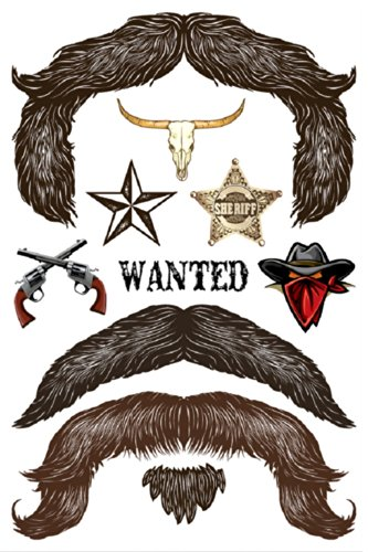 StacheTATS The Outlaw Temporary Mustache -