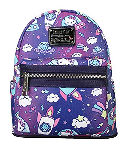 Loungefly Hello Kitty Spaceships Print Mini Backpack Standard